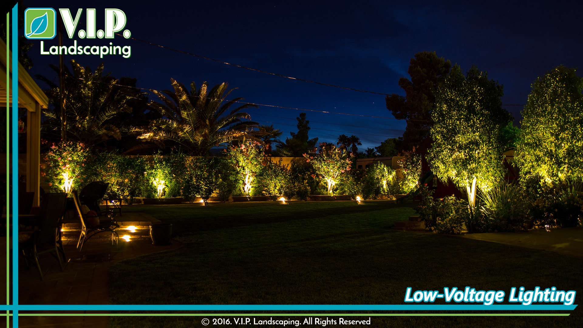outdoor living elements: low-voltage lighting